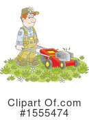 Landscaper Clipart #1555474 by Alex Bannykh