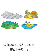 Royalty-Free (RF) Landscapes Clipart Illustration #214617