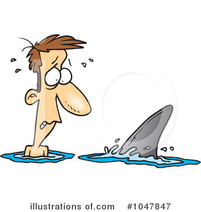 Shark Clipart #1047847 by toonaday