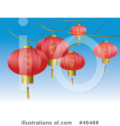 Chinese Lantern Clipart #46468 by Eugene