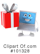 Laptop Character Clipart #101328 by Julos