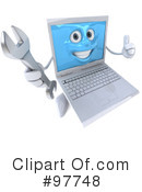 Laptop Character Clipart #97748 by Julos