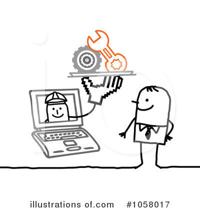 Royalty-Free (RF) Laptop Clipart Illustration by NL shop - Stock Sample #1058017