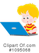 Royalty-Free (RF) Laptop Clipart Illustration #1095068