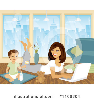 Laptop Clipart #1106804 by Amanda Kate