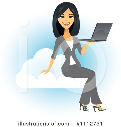 Royalty-Free (RF) Laptop Clipart Illustration by Amanda Kate - Stock Sample #1112751