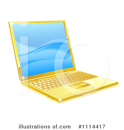 Laptop Clipart #1114417 by AtStockIllustration