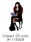 Royalty-Free (RF) Laptop Clipart Illustration #1115928