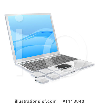 Laptop Clipart #1118840 by AtStockIllustration