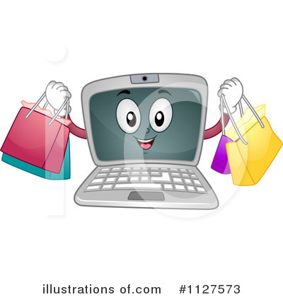 Royalty-Free (RF) Laptop Clipart Illustration by BNP Design Studio - Stock Sample #1127573