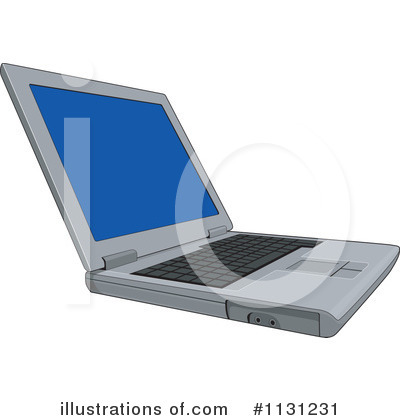 Royalty-Free (RF) Laptop Clipart Illustration by patrimonio - Stock Sample #1131231