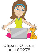 Laptop Clipart #1189278 by Maria Bell
