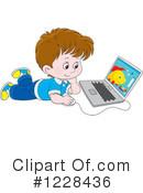 Laptop Clipart #1228436 by Alex Bannykh