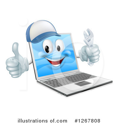 Laptop Clipart #1267808 by AtStockIllustration