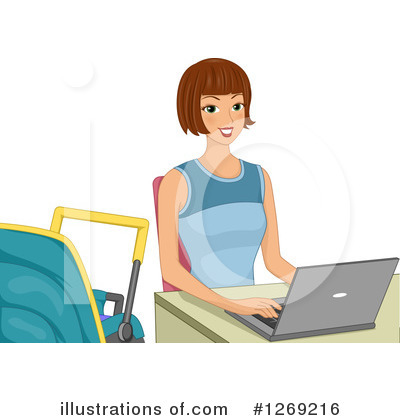 Royalty-Free (RF) Laptop Clipart Illustration by BNP Design Studio - Stock Sample #1269216