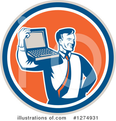 Businessman Clipart #1274931 by patrimonio