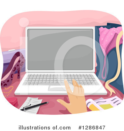Royalty-Free (RF) Laptop Clipart Illustration by BNP Design Studio - Stock Sample #1286847