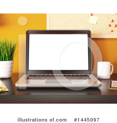 Laptop Clipart #1445097 by Texelart