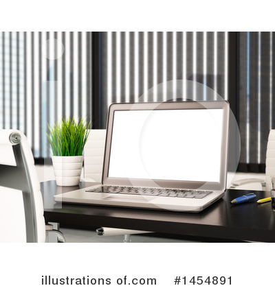 Royalty-Free (RF) Laptop Clipart Illustration by Texelart - Stock Sample #1454891