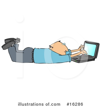 Royalty-Free (RF) Laptop Clipart Illustration by Dennis Cox - Stock Sample #16286
