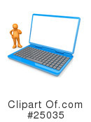 Royalty-Free (RF) Laptop Clipart Illustration #25035