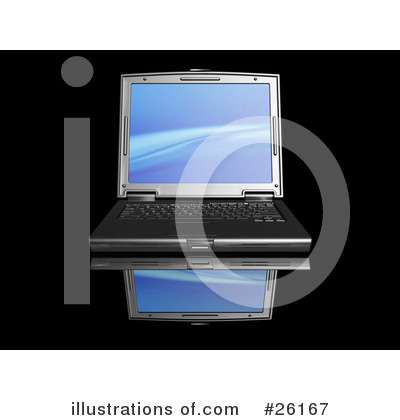 Royalty-Free (RF) Laptop Clipart Illustration by KJ Pargeter - Stock Sample #26167