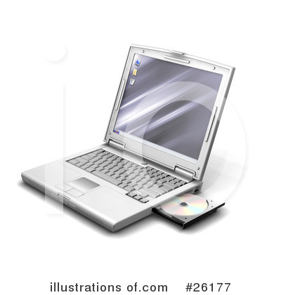 Laptop Clipart #26177 by KJ Pargeter