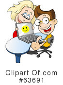Royalty-Free (RF) Laptop Clipart Illustration #63691