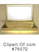 Royalty-Free (RF) Laptop Clipart Illustration #76072