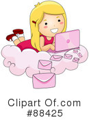 Royalty-Free (RF) laptop Clipart Illustration #88425