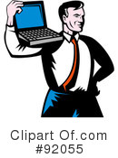 Royalty-Free (RF) Laptop Clipart Illustration #92055