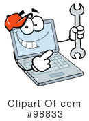 Laptop Clipart #98833 by Hit Toon