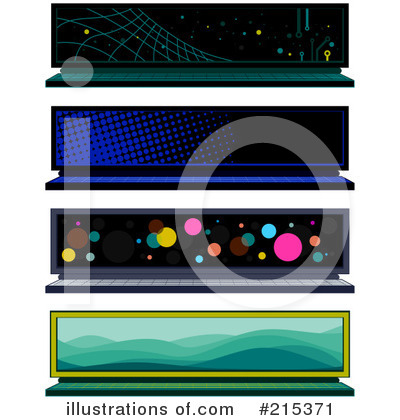 Web Site Banners Clipart #215371 by BNP Design Studio