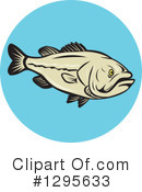 Largemouth Bass Clipart #1295633