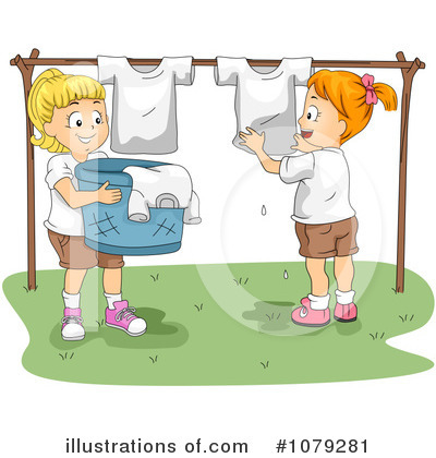 Royalty-Free (RF) Laundry Clipart Illustration by BNP Design Studio - Stock Sample #1079281