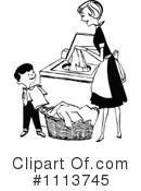 Royalty-Free (RF) Laundry Clipart Illustration #1113745