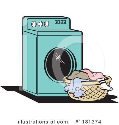 Washing Machine Clipart #1181374 by Andy Nortnik