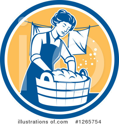 Royalty-Free (RF) Laundry Clipart Illustration by patrimonio - Stock Sample #1265754