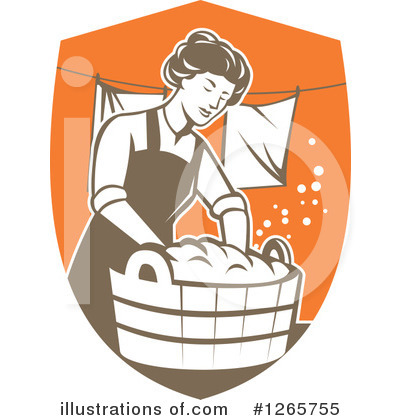 Housewife Clipart #1265755 by patrimonio