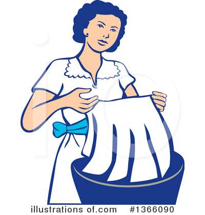 Royalty-Free (RF) Laundry Clipart Illustration by patrimonio - Stock Sample #1366090