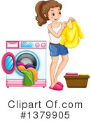 Royalty-Free (RF) Laundry Clipart Illustration #1379905