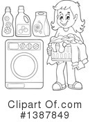 Laundry Clipart #1387849 by visekart