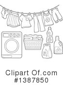 Royalty-Free (RF) Laundry Clipart Illustration #1387850