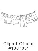 Royalty-Free (RF) Laundry Clipart Illustration #1387851