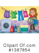 Laundry Clipart #1387854 by visekart