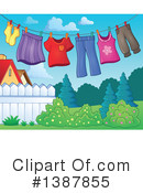 Royalty-Free (RF) Laundry Clipart Illustration #1387855