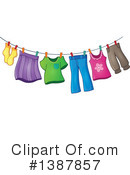 Royalty-Free (RF) Laundry Clipart Illustration #1387857