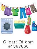 Royalty-Free (RF) Laundry Clipart Illustration #1387860