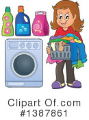 Laundry Clipart #1387861 by visekart