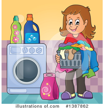 Washing Machine Clipart #1387862 by visekart